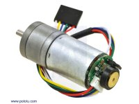 172:1 Metal Gearmotor 25Dx56L mm MP 12V with 48 CPR Encoder