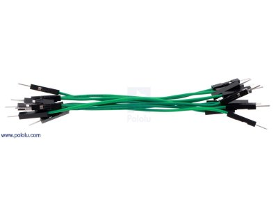 "Premium Jumper Wire 10-Pack M-M 3"" Green"