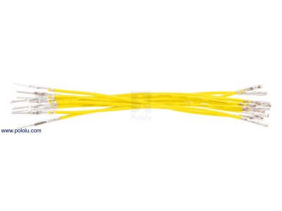 "Wires with Pre-crimped Terminals 10-Pack M-F 3"" Yellow"