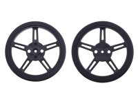 Pololu Wheel for FEETECH FS90R Micro Servo, 60x8mm Pair Black