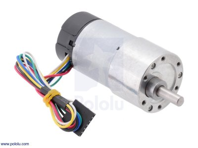 Motor Reductor Metálico 70:1 37Dx70L mm con Encoder 64 CPR