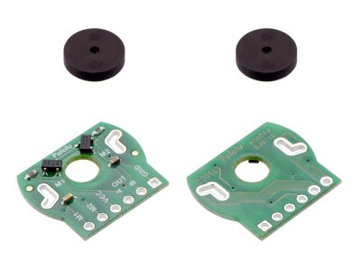 Magnetic Encoder Pair Kit for Mini Plastic Gearmotors, 12 CPR, 2