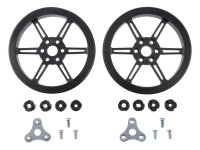 Pololu Multi-Hub Wheel w/Inserts for 3mm and 4mm Shafts - 80×10m