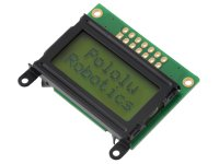 8×2 Character LCD - Black Bezel (Parallel Interface)