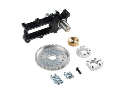 Channel Mount Gearbox Kit - 360º Rotation (7:1 Ratio)