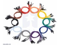 Jumper Wire 50 Piece Rainbow Assortment M-M 150mm
