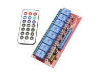 Infrared Remote Control Relay Module 8 Channels