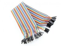 Cable Dupont Jumper 40 piezas 200mm Hembra-Hembra