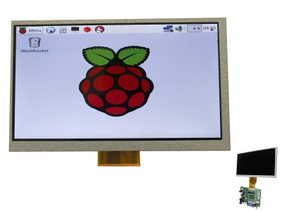 "Display LCD 7"" 800x480 HDMI/VGA/NTSC/PAL"