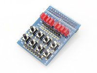 8 Led 8 Button Board for Raspberry Pi
