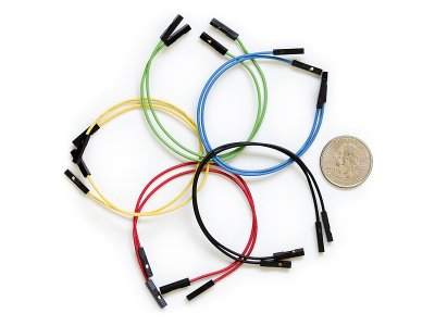 Jumper Wire 10 Piece Rainbow F-F 150mm