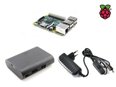 Kit Raspberry Pi 3 B+ with Box, Wall Adapter