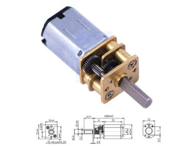 Mini Motor Reductor Metalico 250:1