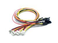 Cables 4 conductores 20cm. Conectar y Listo a Jumper Hembra 5 ud